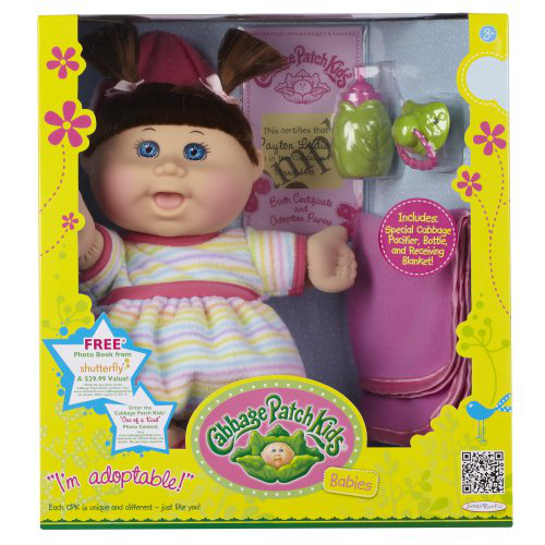 Cabbage Patch Babies Doll - Caucasian Girl, Brunette Hair